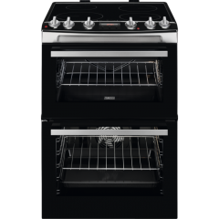 Zanussi ZCI66278XA 60Cm Double Oven With Induction Hob