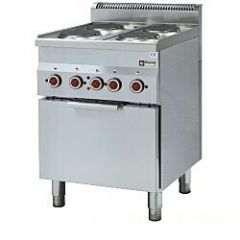 Diamond E60/4PFV6 4 Ring Range With Gn 2/3 Convection Oven