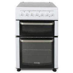 Montpellier TCC60W 60Cm Twin Cavity Cooker With Ceramic Hob