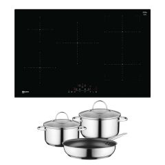 Neff T48FD23X2KIT Neff T48FD23X2KIT Frameless Induction Hob with CombiZone - Black