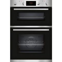 Neff U1GCC0AN0B Built In Electric Double Oven - Black Steel - A Energy Rated